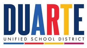 DUARTE unified school district Logo