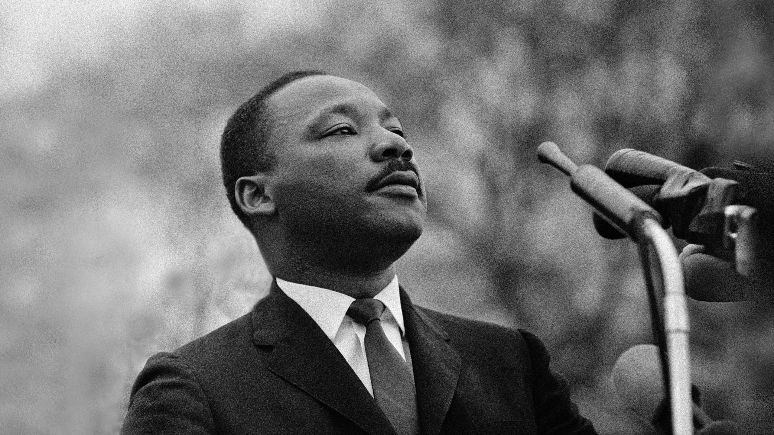 MONTGOMERY, AL - MARCH 25:  Dr. Martin Luther King, Jr. speaking before crowd of 25,000 Selma To Montgomery, Alabama civil rights marchers, in front of Montgomery, Alabama state capital building. On March 25, 1965 in Montgomery, Alabama. (Photo by Stephen F. Somerstein/Getty Images)